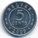 Белиз, 5 центов (2009 г.)