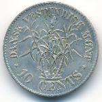 Датская Западная Индия, 10 центов (1878 г.)