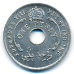British West Africa, 1 penny, 1936