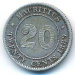 Маврикий, 20 центов (1889 г.)