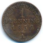 Пруссия, 1 пфеннинг (1852–1858 г.)