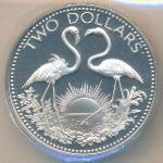 Багамские острова, 2 доллара (1975 г.)