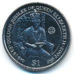 Виргинские острова, 1 доллар (2002 г.)