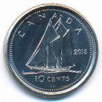 Канада, 10 центов (2018 г.)