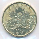 Канада, 1 доллар (2016 г.)