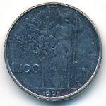Италия, 100 лир (1991 г.)