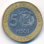 Доминиканская республика, 5 песо (1997 г.)