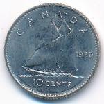 Канада, 10 центов (1980 г.)