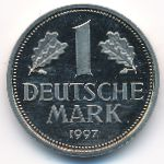 ФРГ, 1 марка (1990–1997 г.)