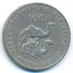 Французская территория афаров и исса, 100 франков (1970–1975 г.)