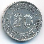 Маврикий, 20 центов (1886 г.)