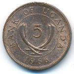 Уганда, 5 центов (1966–1975 г.)