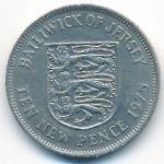 Джерси, 10 новых пенсов (1975 г.)
