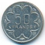 Центральная Африка, 50 франков (1976 г.)