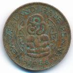Новая Зеландия, 1/2 пенни (1958 г.)