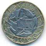 Италия, 1000 лир (1998 г.)
