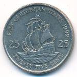 Восточные Карибы, 25 центов (1999 г.)
