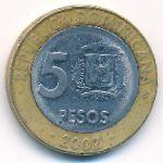 Доминиканская республика, 5 песо (2002 г.)