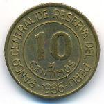 Перу, 10 сентимо (1986 г.)