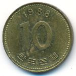 Южная Корея, 10 вон (1988 г.)