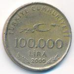 Турция, 100000 лир (2000 г.)