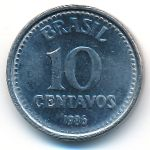 Бразилия, 10 сентаво (1986 г.)