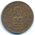 Новая Зеландия, 1/2 пенни (1957 г.)