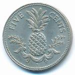 Багамские острова, 5 центов (1975 г.)