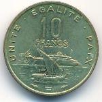 Джибути, 10 франков (1989 г.)