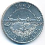 Бермудские острова, 1 доллар (1987 г.)