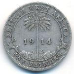 Британская Западная Африка, 1 шиллинг (1914 г.)
