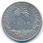 Британская Западная Африка, 1 шиллинг (1916 г.)