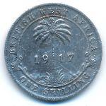 Британская Западная Африка, 1 шиллинг (1917 г.)