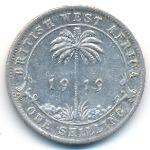Британская Западная Африка, 1 шиллинг (1919 г.)