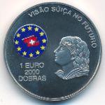 Сан-Томе и Принсипи, 2000 добра - 1 евро (1997 г.)
