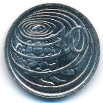 Каймановы острова, 10 центов (1987 г.)