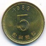 Южная Корея, 5 вон (1983 г.)