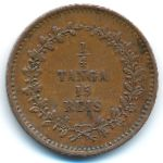 Португальская Индия, 1/4 танги - 15 рейс (1871 г.)