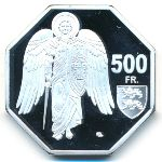 Мон-Сен-Мишель, 500 франков (2020 г.)