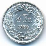 Швейцария, 1/2 франка (1959 г.)