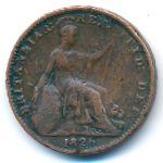 Великобритания, 1 фартинг (1826 г.)