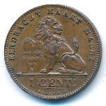 Бельгия, 1 сентим (1887 г.)