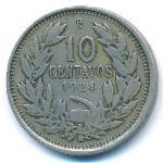 Чили, 10 сентаво (1924 г.)