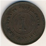 Straits Settlements, 1 cent, 1872–1883