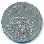Чад, 500 франков (1985 г.)