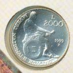Италия, 2000 лир (1999 г.)