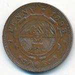 ЮАР, 1 пенни (1898 г.)