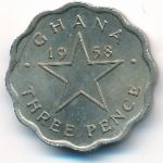 Гана, 3 пенса (1958 г.)