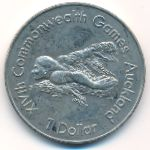 Новая Зеландия, 1 доллар (1989 г.)