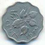 Свазиленд, 5 центов (1975 г.)